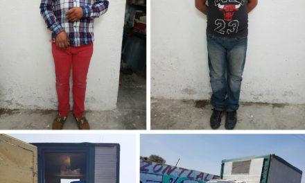 Huachicoleros detenidos en Tlaxiaca
