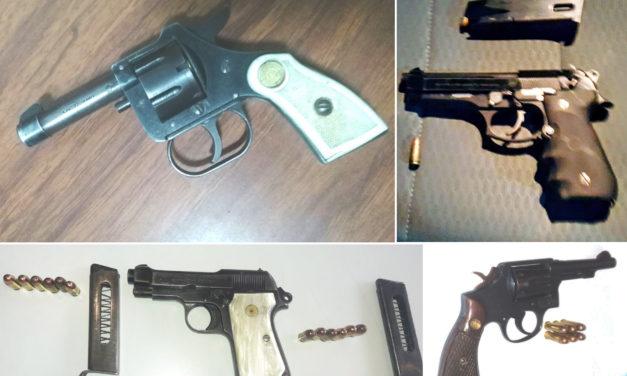 Con operativos preventivos, SSPH saca de las calles armas de fuego; cuatro detenidos