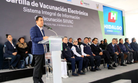HIDALGO HACE HISTORIA CON LA IMPLEMENTACIÓN DE LA CARTILLA ELECTRÓNICA DE VACUNACIÓN