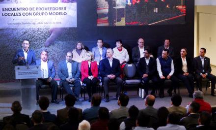ACERCA GOBERNADOR OMAR FAYAD A EMPRESAS HIDALGUENSES PARA QUE SEAN PROVEEDORAS DE PROYECTO CERVECERO DE GRUPO MODELO