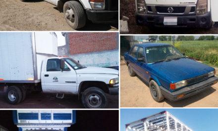 Recupera Policía Estatal seis  vehículos con reporte de robo