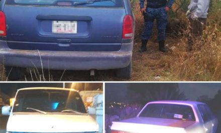 Detiene Policía Estatal a dos personas presuntamente  relacionadas con desmantelamiento de vehículos