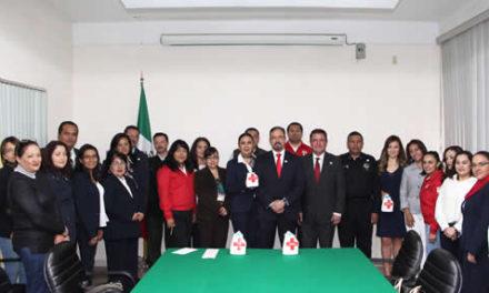 Voluntariado de la Secretaría de Seguridad Pública de Hidalgo se suma a colecta de Cruz Roja
