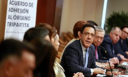 Se firma el Acuerdo de Adhesión al Órgano Tripartita para la consolidación del Sistema de Justicia Penal.