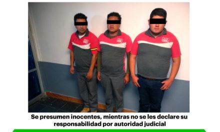 Mediante videovigilancia y operativo policial,  asegura SSPH a probables delincuentes