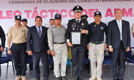 Destacan instructores de Seguridad Pública de Hidalgo en curso internacional de armamento