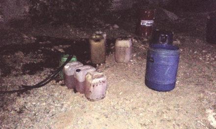 Asegura Policía Estatal a individuo  en toma clandestina de hidrocarburo
