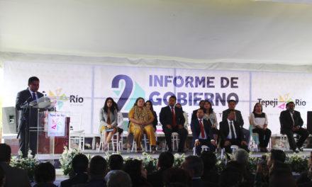 Rinde segundo informe de gobierno Moisés Ramírez Tapia.