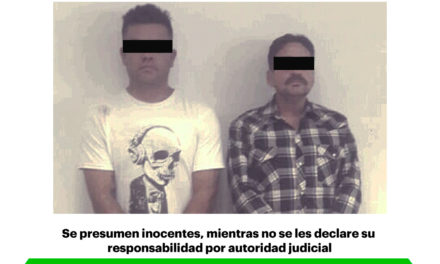 Dos detenidos por Policía Estatal al exterior de sucursal bancaria con 20 cheques presuntamente apócrifos
