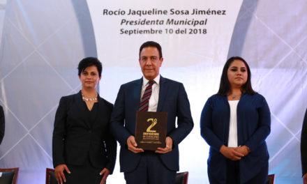 GOBERNADOR ACUDE AL 2DO INFORME DE ACTIVIDADES EN ACAXOCHITLÁN