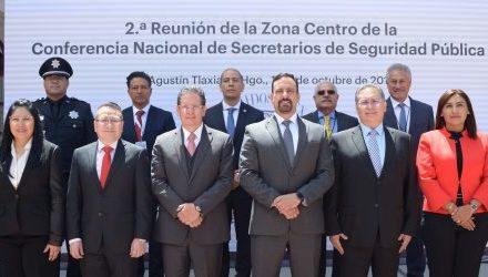 COORDINAN EN HIDALGO ACCIONES DE  SEGURIDAD PÚBLICA DEL CENTRO DEL PAÍS