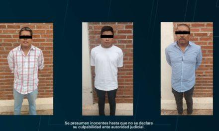 Con videovigilancia y operativo policial, tres detenidos  por presunto robo a domicilio en Tulancingo