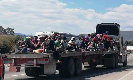 SSPH da acompañamiento a caravana  de migrantes en su paso por Hidalgo