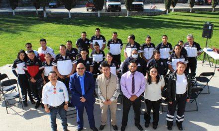 Continúan cursos de capacitación impartidos a Protección Civil de Tepeji