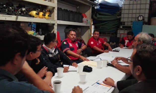 Se reúnen Unidades de Protección Civil de la región Tula