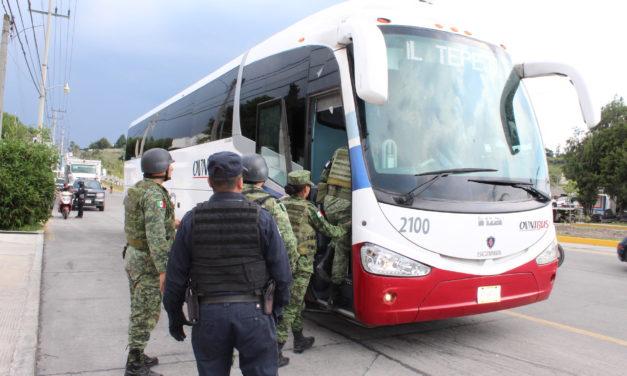 Guardia Nacional realiza operativos en coordinación con Seguridad Pública de Tepeji del Río